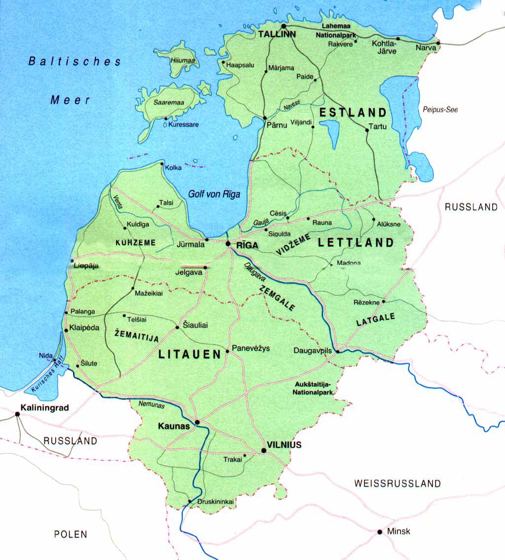 Baltikum Landkarte Pictures