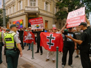 nationalist protesters Baltic Pride
