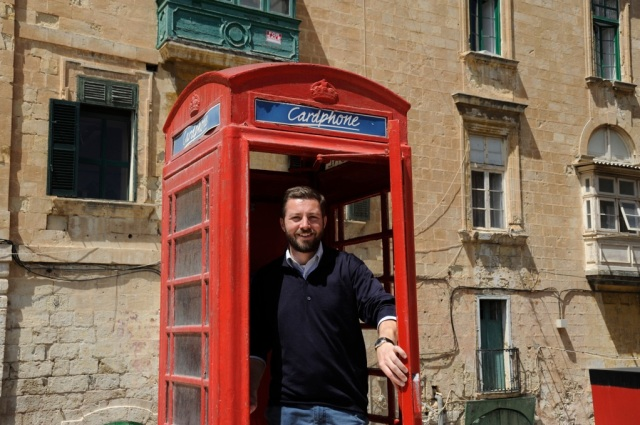 Andreas Moser Malta phone booth Valetta