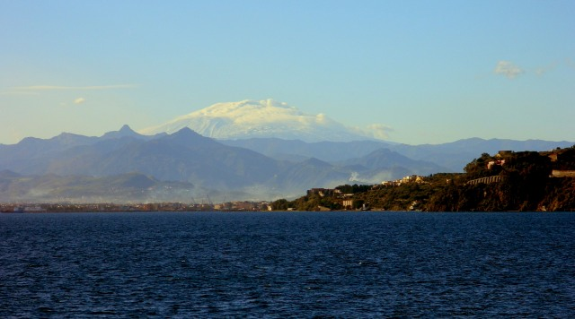 Etna from ferry