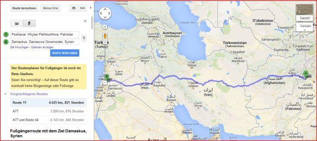 Google Maps Bürgersteige