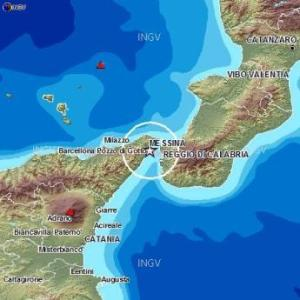 Messina earthquake map