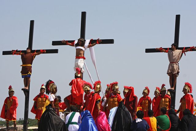 Philippines crucifixion Easter 2