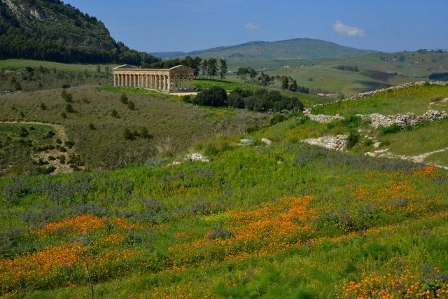 Segesta temple in nature