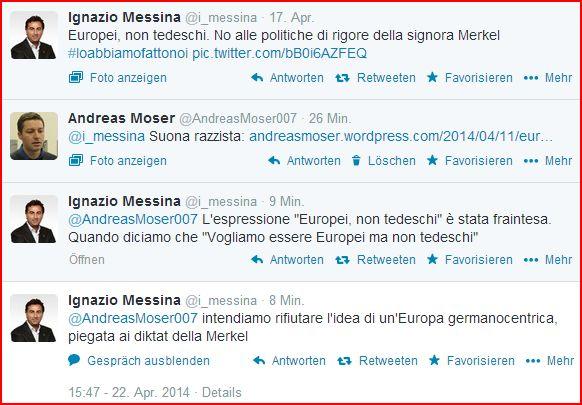 IdV Europei non tedeschi Twitter Ignazio Messina