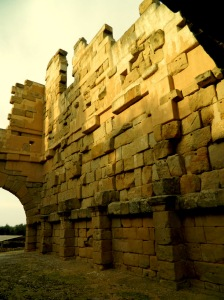 walls of Basilica Tindari