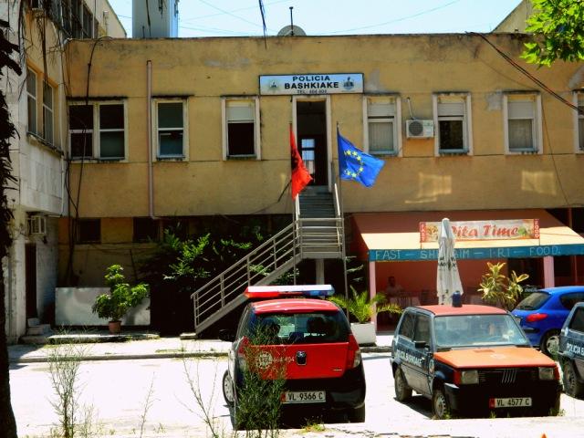 EU flag in Albania