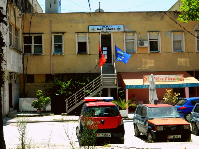 EU flag in Albania