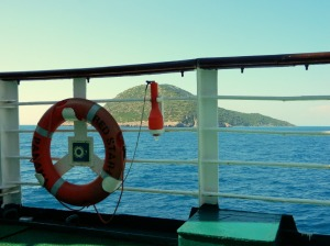 Sazan view from ferry