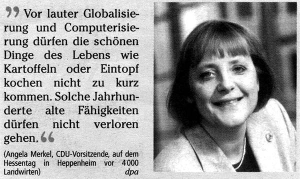 Angela Merkel warnt vor Globalisierung