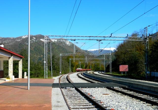 Kolasin Bahnhof leer