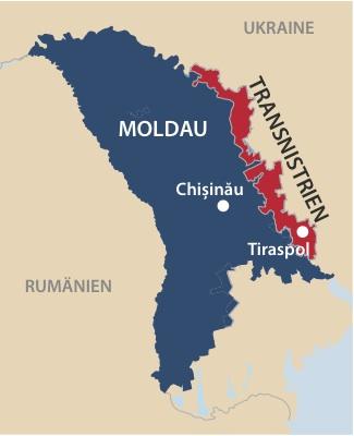 Moldau-Transnistrien-Karte