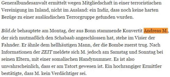 Andreas M Dschihadist ZEIT