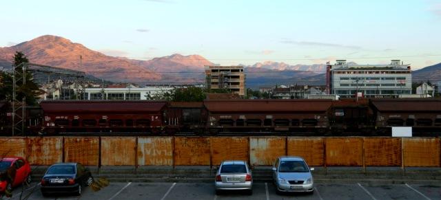 mountains train station