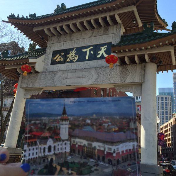 postcard TgM Boston Chinatown