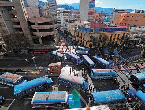 bloqueo autobuses