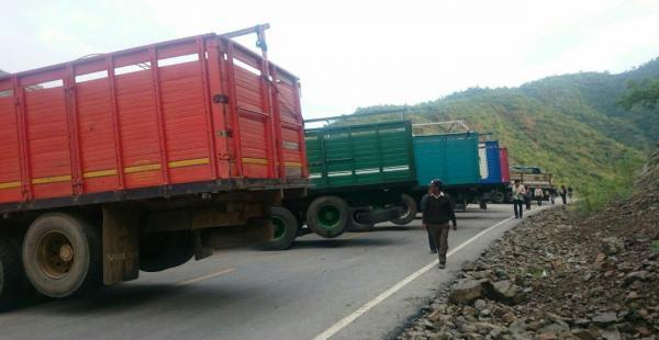 bloqueo camiones