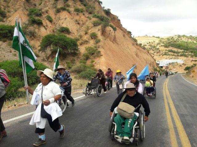 Rollstullfahrer march