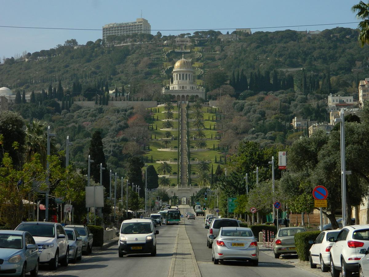 Ansicht auf Bahai in Haifa.JPG