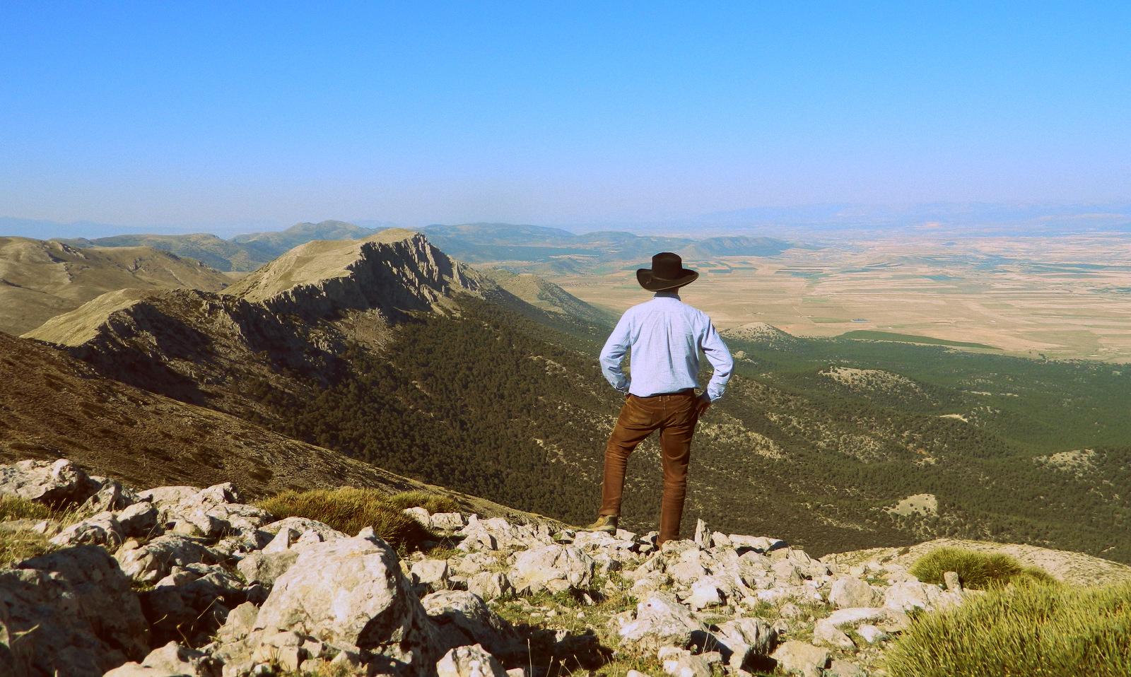 Hut von hinten Sierra Maria