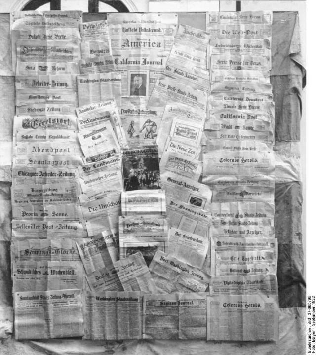 Deutsche Zeitungen in Nordamerika