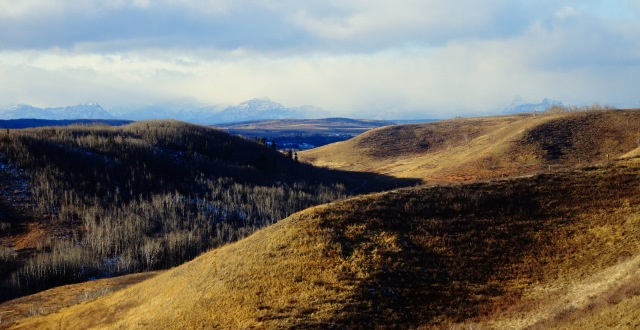 gentle hills rugged peaks