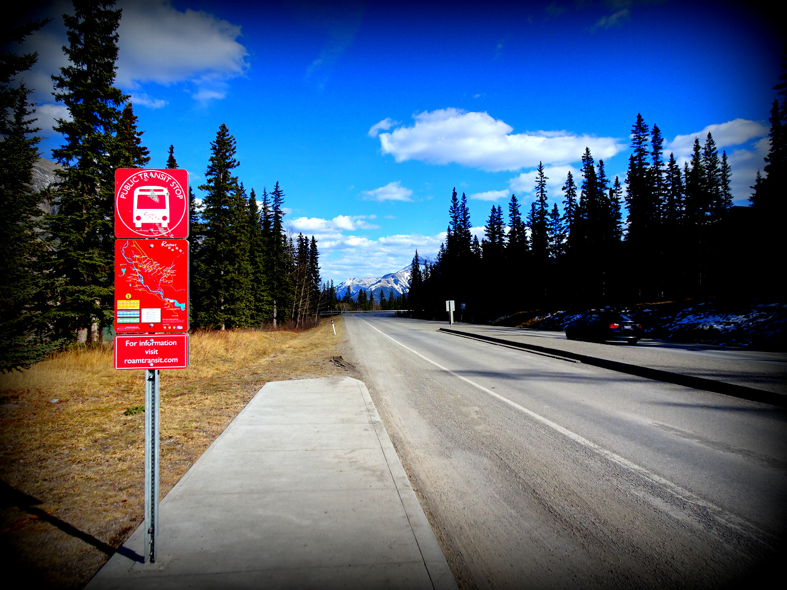 bus stop Canmore