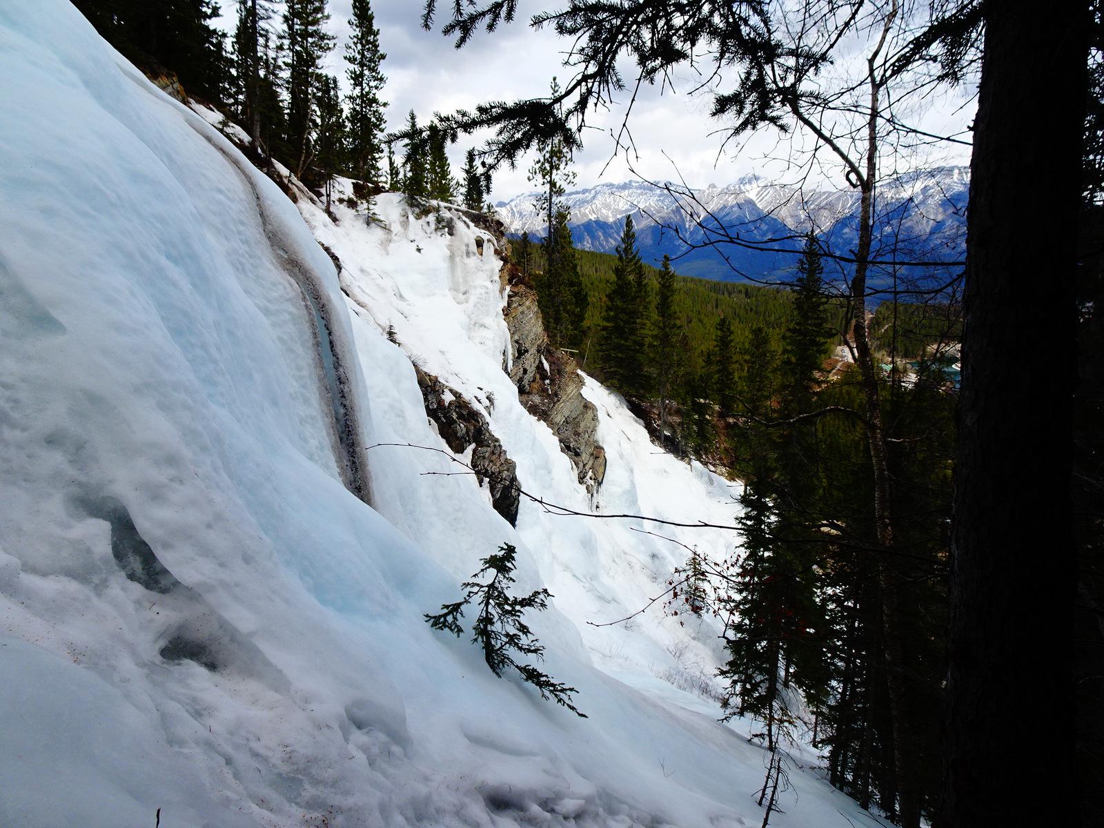 Eiswand mit Aussicht
