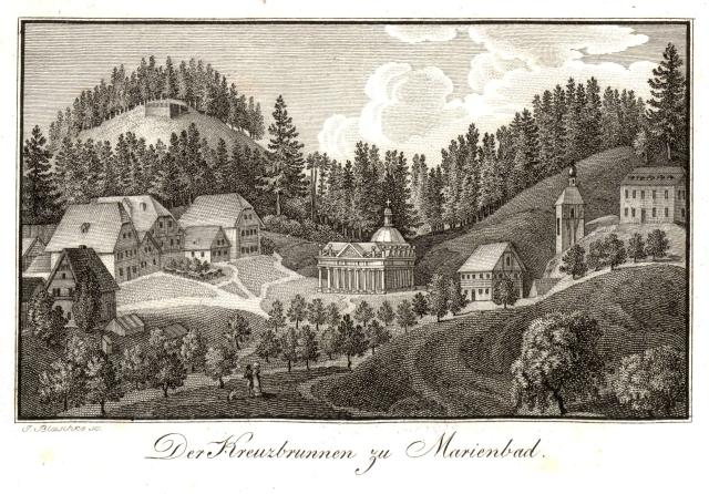 der_kreuzbrunnen_zu_marienbad2c_copper_engraving2c_early_19._century
