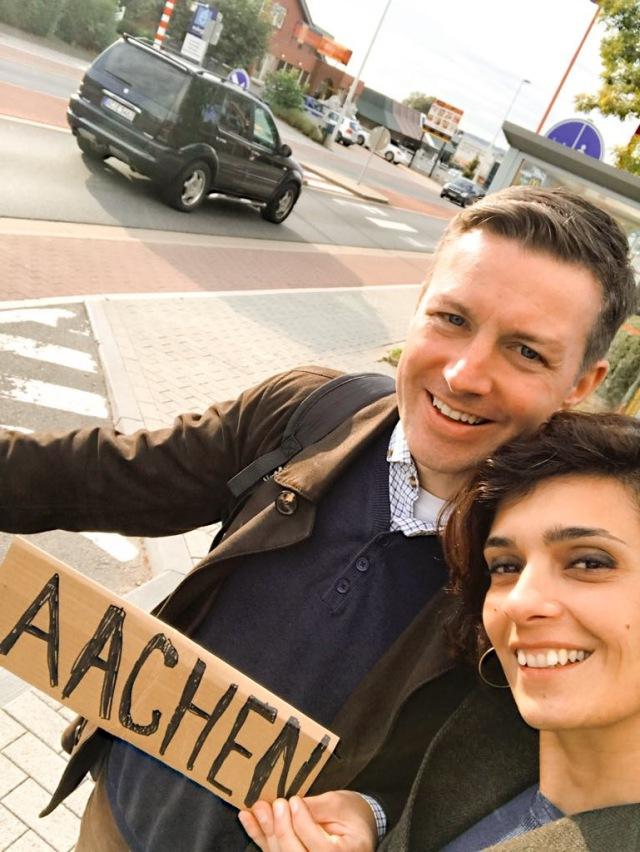 Keti Kikoshvili hitchhiking Aachen