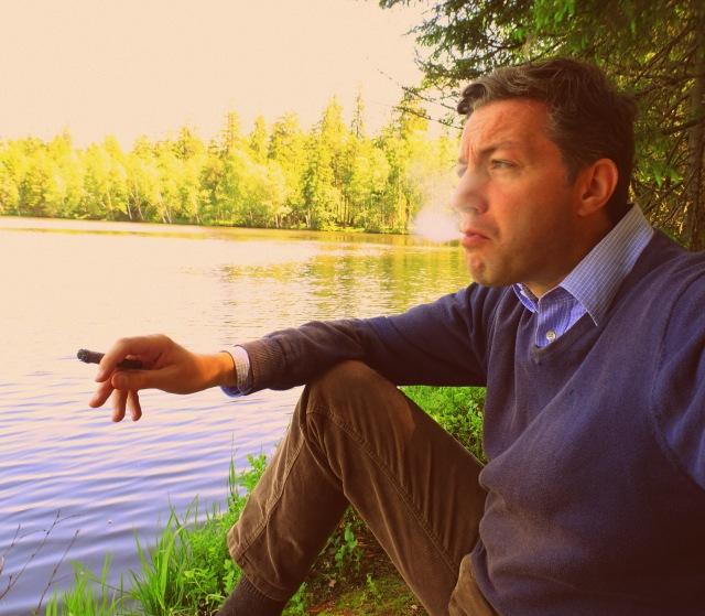 Zigarre am Glatzen-See