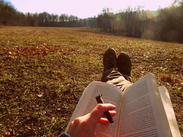 smoking and reading