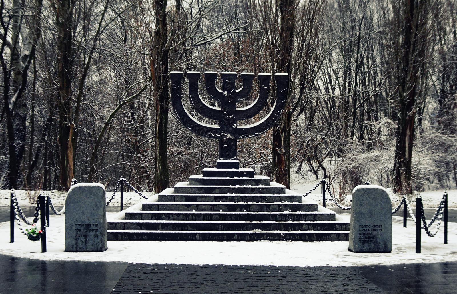Babi Yar menorah