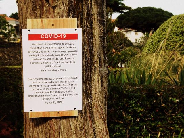 Covid 19 warning Pico
