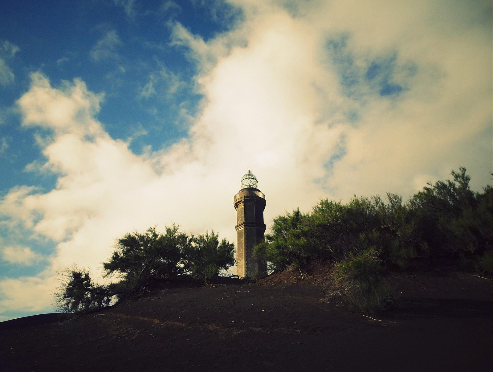Capelinhos Leuchtturm Büsche