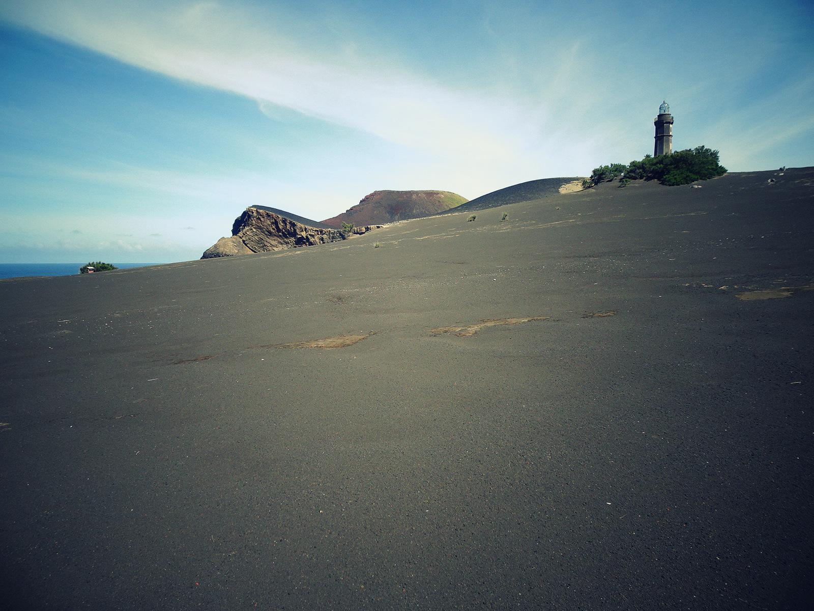 Capelinhos Weg zum Strand