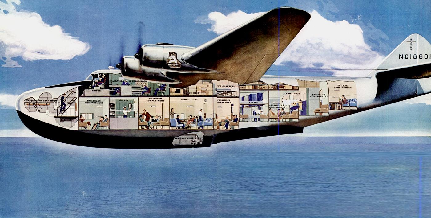 seaplane inside
