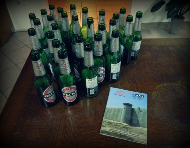 Al-Yakhour-Hostel Haifa beer bottles