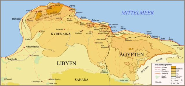 Qattara depression battle map