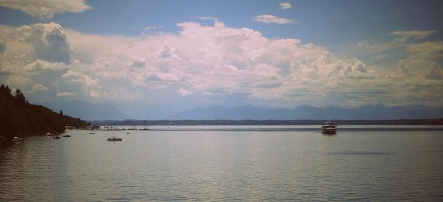 Starnberger See Berge am Horizont